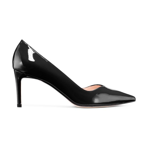 Stuart Weitzman anny 70 in black patent leather