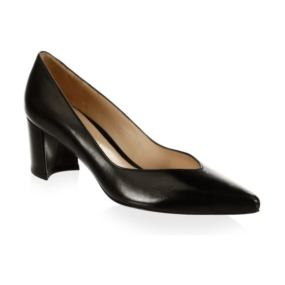 Stuart Weitzman everystep leather pumps in black - Chic leather pumps ideal for your work wardrobe....