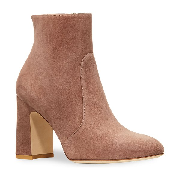 Stuart Weitzman Nell Suede Booties in taupe
