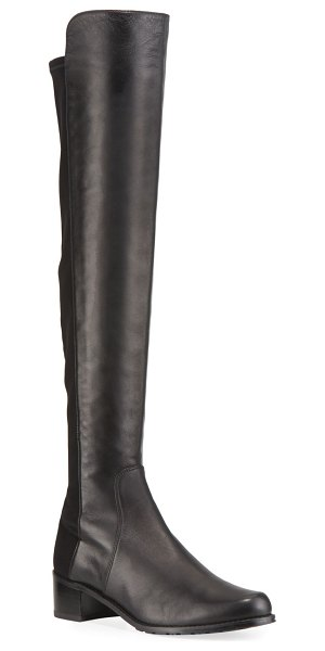 Stuart Weitzman Reserve Stretch-Suede Knee Boots in black