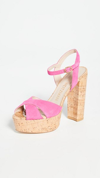 Stuart Weitzman soliesse sandals in peonia