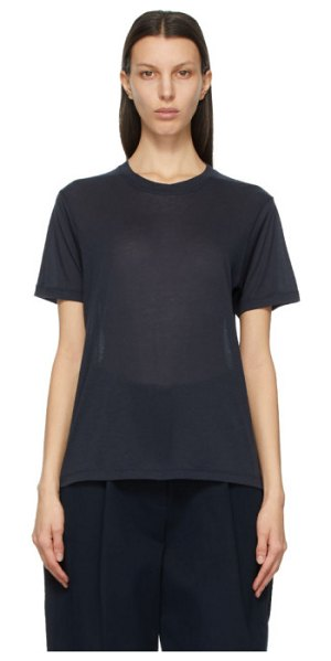Studio Nicholson navy kemi t-shirt in dark navy