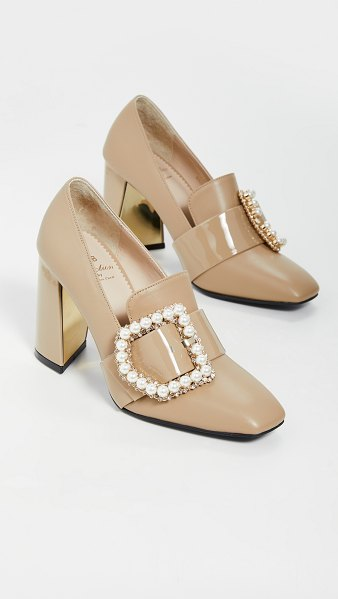 SUECOMMA BONNIE jewel buckle detailed pumps in bee