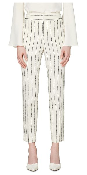 SUISTUDIO lane classic trousers in white stripe