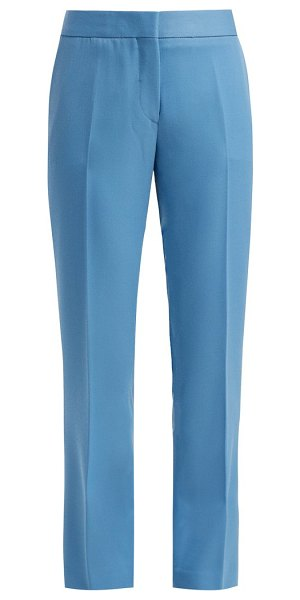 SUMMA straight leg wool trousers in light blue