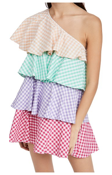 SUNDRESS lena cover up in gingham multicolor