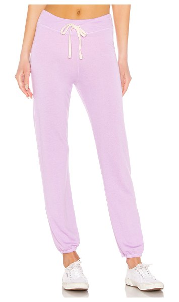 Sundry Classic Sweatpants in lavender - 48% lyocell 28% cotton 26% rayon. Adjustable drawstring...