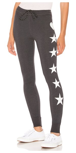 Sundry Heart + Stars Skinny Sweatpant in gray - 66% viscose 29% cotton 5% spandex. Adjustable drawstring...
