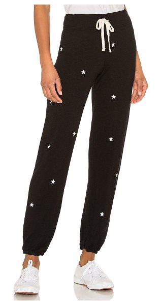 Sundry Little Stars Classic Sweatpant in black - 46% lyocell 28% cotton 26% rayon. Adjustable drawstring...