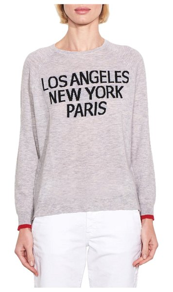 Sundry los angeles/new york/paris wool & cashmere sweater in heather grey