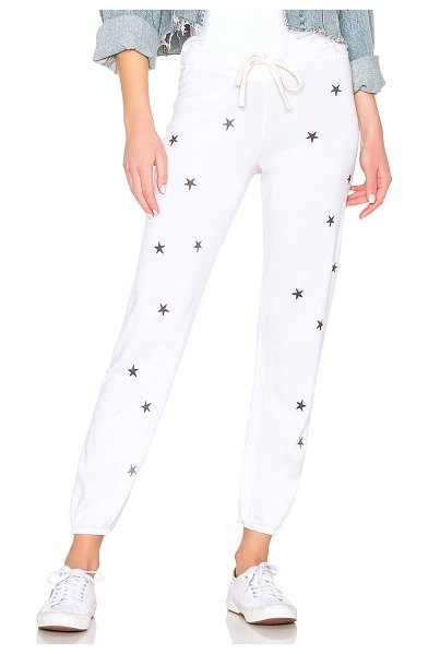 Sundry Stars + Hearts Basic Sweatpant in white - 46% lyocell 28% pima cotton 26% rayon. Elasticized...