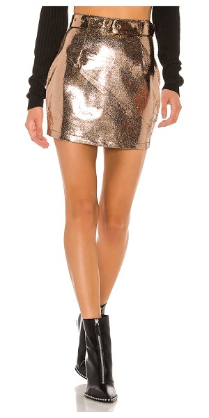 superdown adelyn mini skirt in rose gold