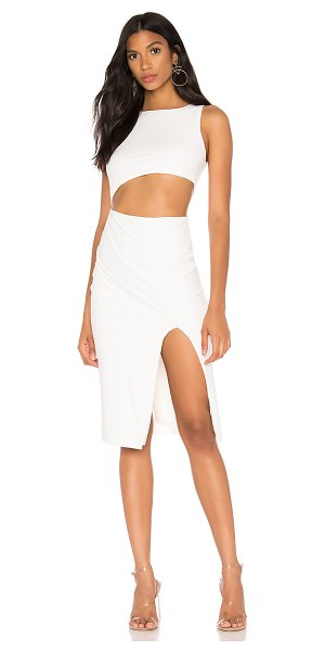 superdown amira cut out dress in ivory