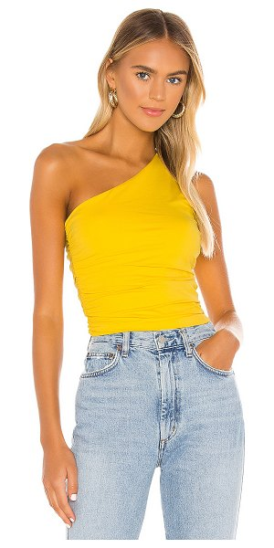 superdown anna ruched top in yellow