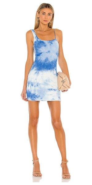 superdown bonnie mini dress in blue