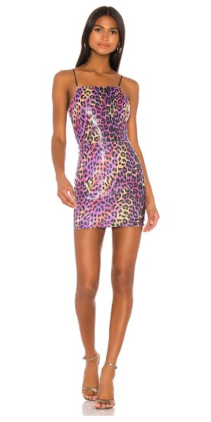 superdown elena bodycon mini dress in multi leopard