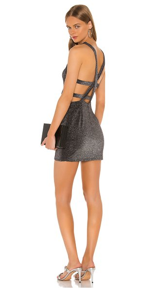 superdown huxlee strappy back dress in pewter