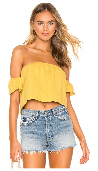 superdown landon tie back top in yellow