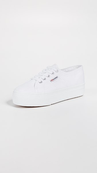Superga 2790 acotw platform sneakers in white