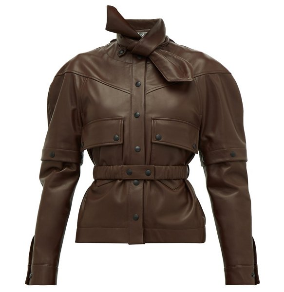 Symonds Pearmain deconstructed leather jacket in brown