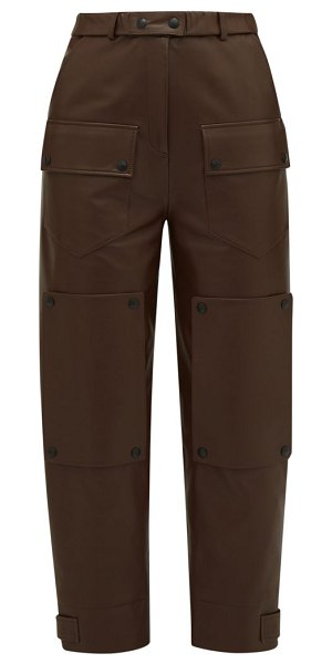 Symonds Pearmain panelled leather trousers in brown