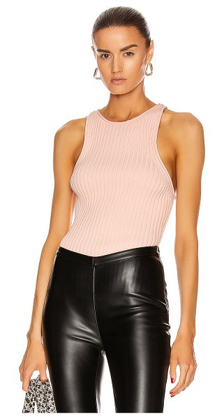 T by Alexander Wang shrunken rib tank top in melon