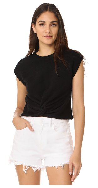 T BY ALEXANDER WANG twist front sweater - A plush T by Alexander Wang sweater with a twisted hem....