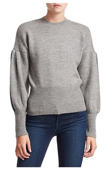 Tanya Taylor lee wool puff sleeve sweater in grey - From the Saks IT LIST PUTTING ON THE KNITS That...