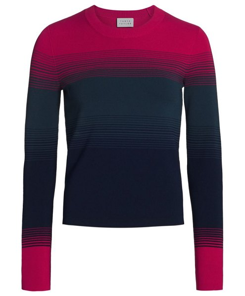 Tanya Taylor ombre long-sleeve sweater in berry ombre multi