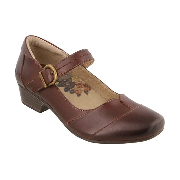 Taos balance mary jane pump in brunette leather