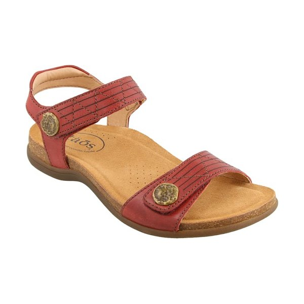 Taos pioneer sandal in red leather