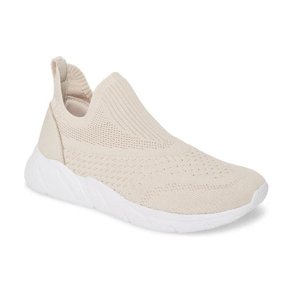 Taryn Rose wesley sock slip-on sneaker in chalk fabric