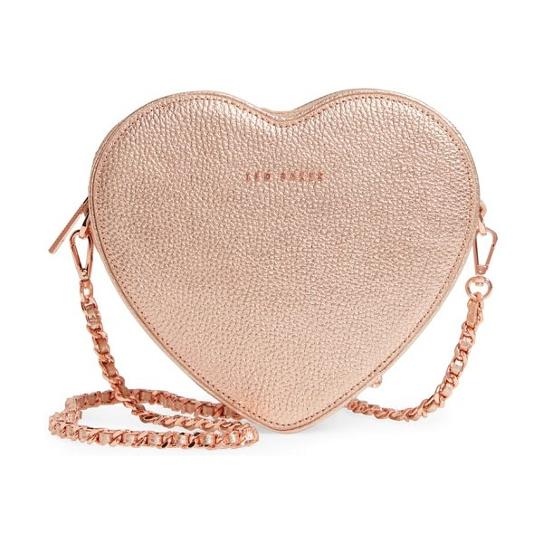 Ted Baker amellie leather crossbody bag in rose gold