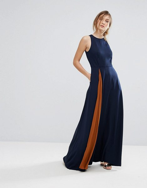 87500ce31 Ted baker contrast pleat maxi dress in blue shopstasy jpg 470x600 Ted  romper maxi