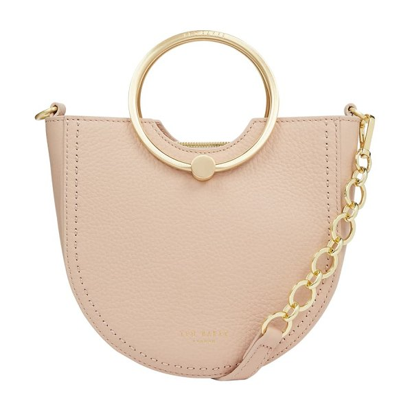 Ted Baker fiorel top handle leather bag in natural