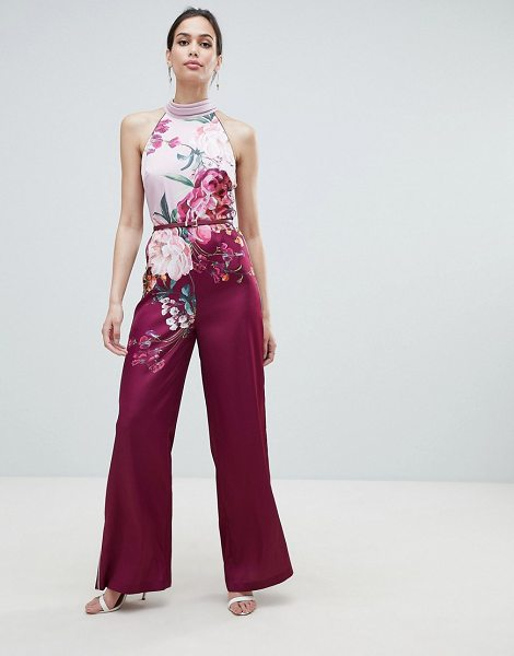 Ted Baker halterneck jumpsuit in maroon - Jumpsuit by Ted Baker, Hey, fancy pants, High neck,...