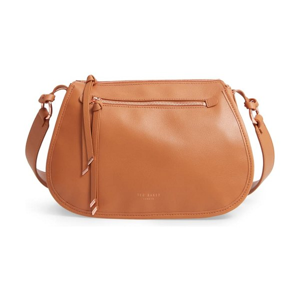 Ted Baker heatherr curved leather crossbody bag in tan