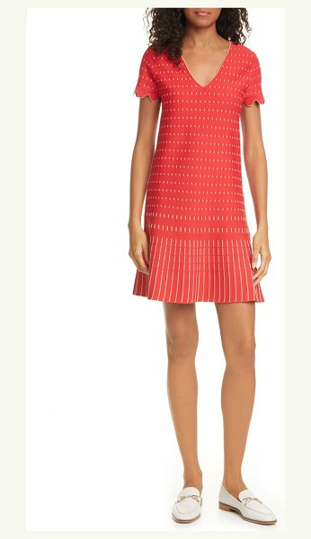 Ted Baker maciiey stitch detail knit dress in coral