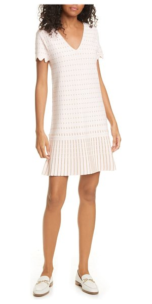 Ted Baker maciiey stitch detail knit dress in baby pink