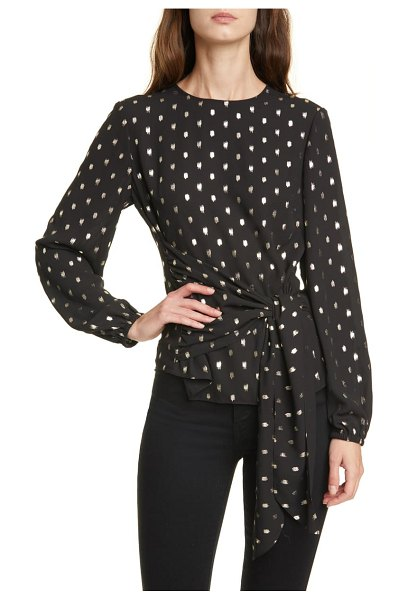 Ted Baker naiomy metallic fleck wrap front top in black