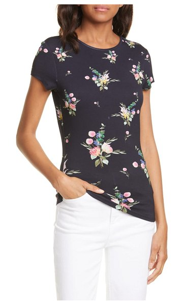 Ted Baker persisa flourish fitted tee in navy
