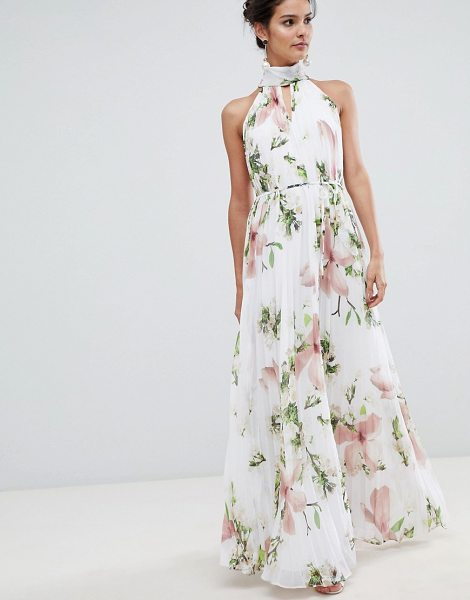 e84f78419 Ted baker pleated maxi dress in harmony floral print in white maxi dress ted  jpg 470x600