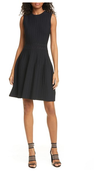 Ted Baker sleeveless knit fit & flare dress in black