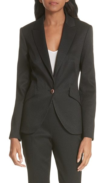 064c8471d Ted Baker textured jacket in black - Suit up to shatter the ceiling in this  precisely