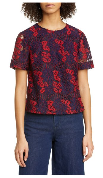 Ted Baker thalia bow back lace top in red