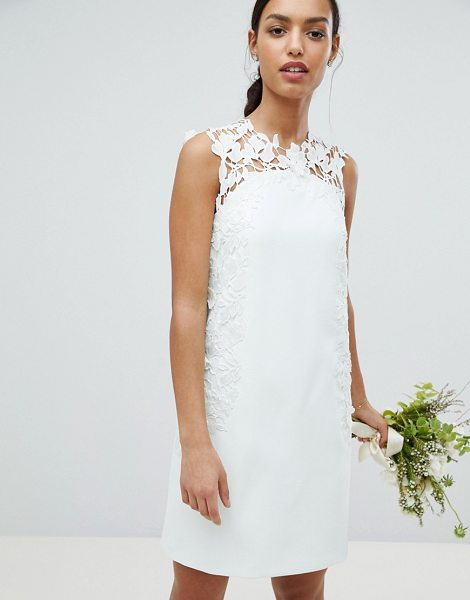 TED BAKER Tie The Knot Tunic Bridesmaid Dress With Applique Lace ...