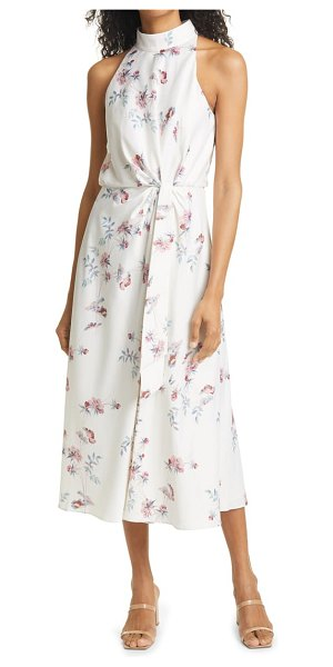 Ted Baker zoeeey floral halter neck midi dress in natural