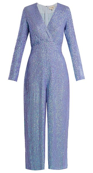 2a88c49f3a Temperley London Tiara sequin-embellished jumpsuit in purple multi -  Temperley London s light-blue
