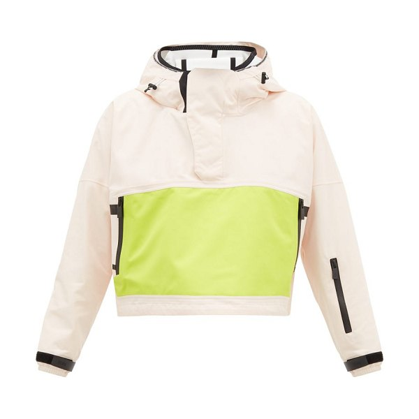 TEMPLA cropped bio-shell hooded anorak in pink