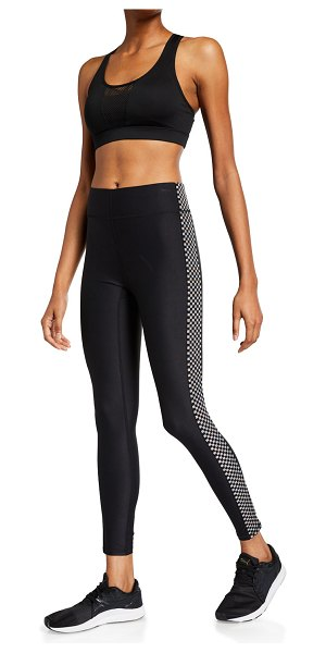 Terez High-Rise Checkerboard Leggings in black pattern